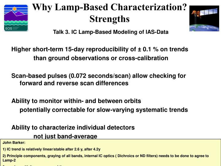 Why Lamp-Based Characterization?