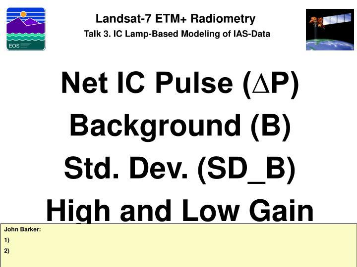 Landsat-7 ETM+ Radiometry