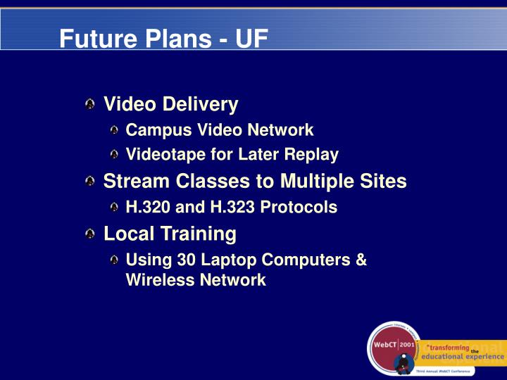 Future Plans - UF