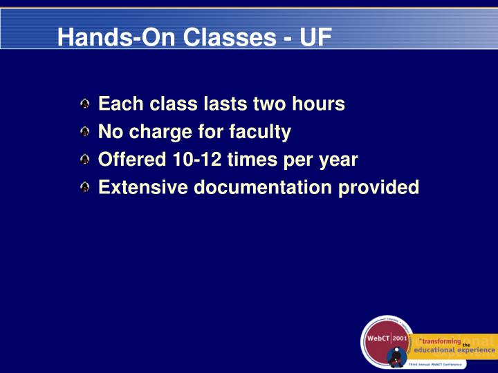 Hands-On Classes - UF