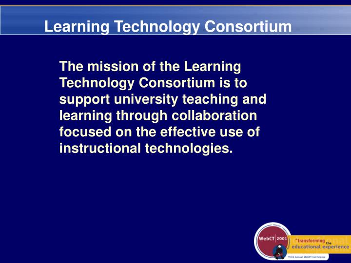 Learning technology consortium