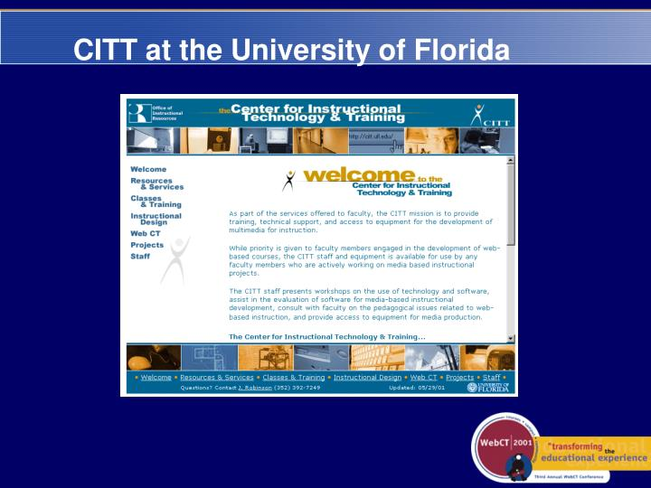 CITT at the University of Florida