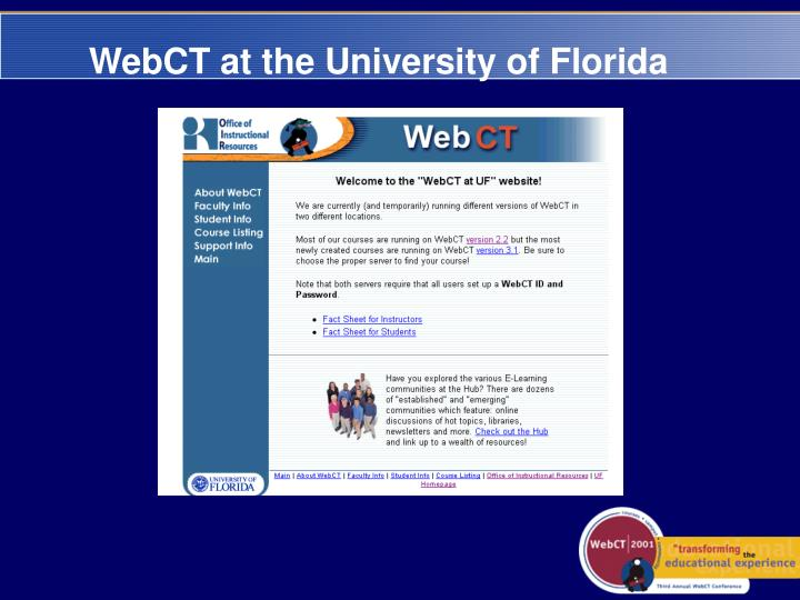 WebCT at the University of Florida