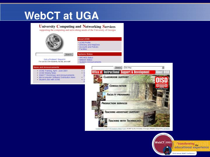WebCT at UGA