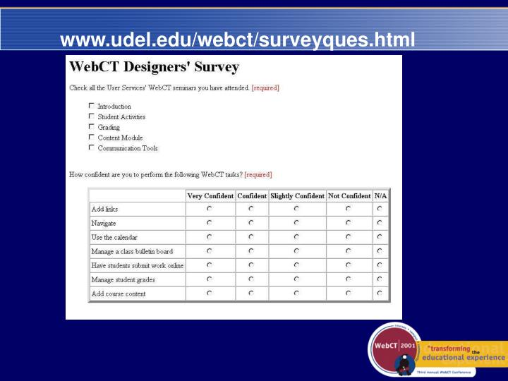 www.udel.edu/webct/surveyques.html