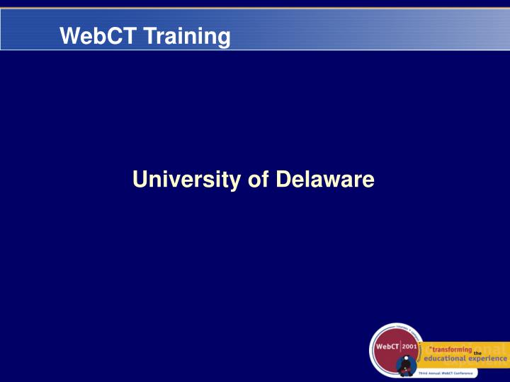 WebCT Training