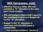 nih carryovers cont1