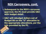 nih carryovers cont2