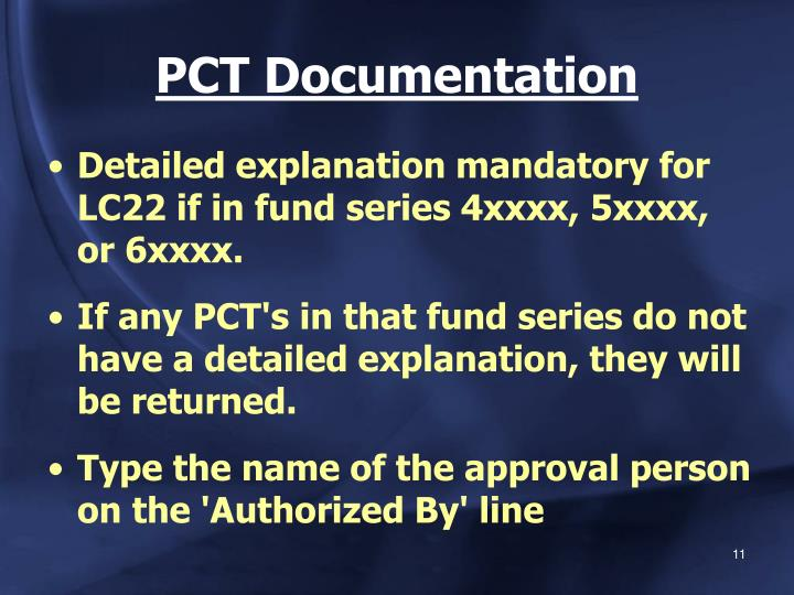 PCT Documentation