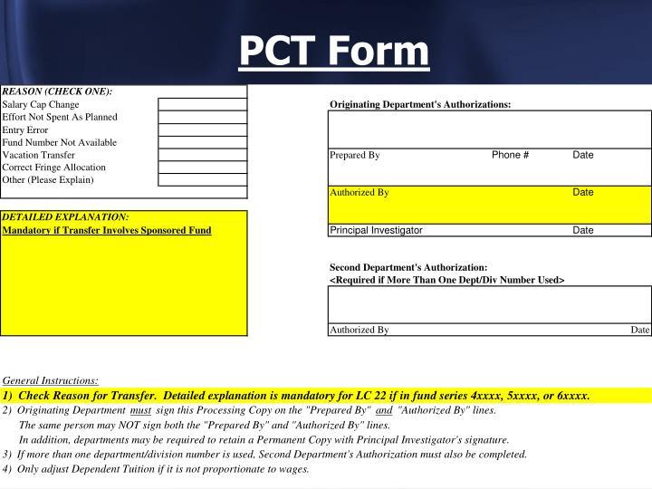 PCT Form