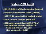 yale oig audit