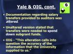 yale oig cont