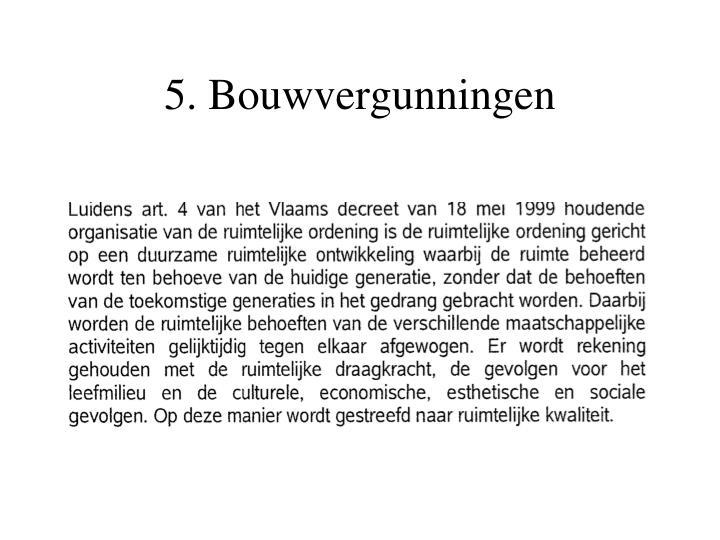5. Bouwvergunningen