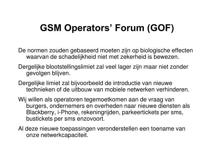 GSM Operators' Forum (GOF