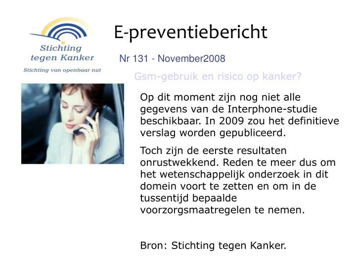 E-preventiebericht