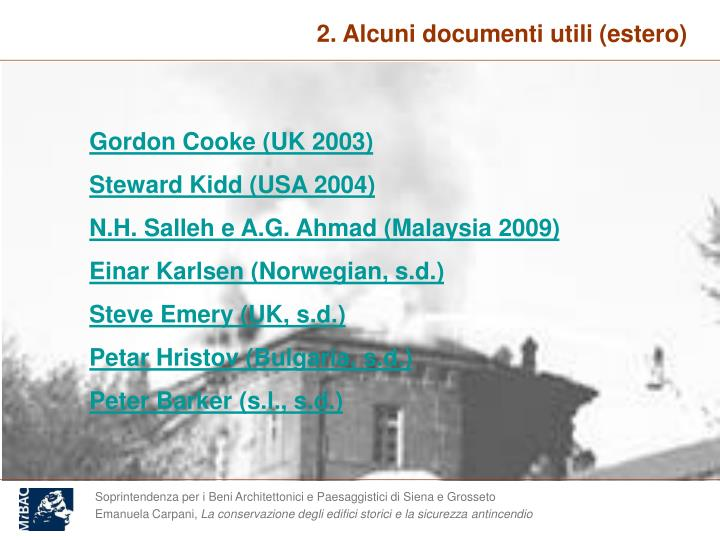 2. Alcuni documenti utili (estero)