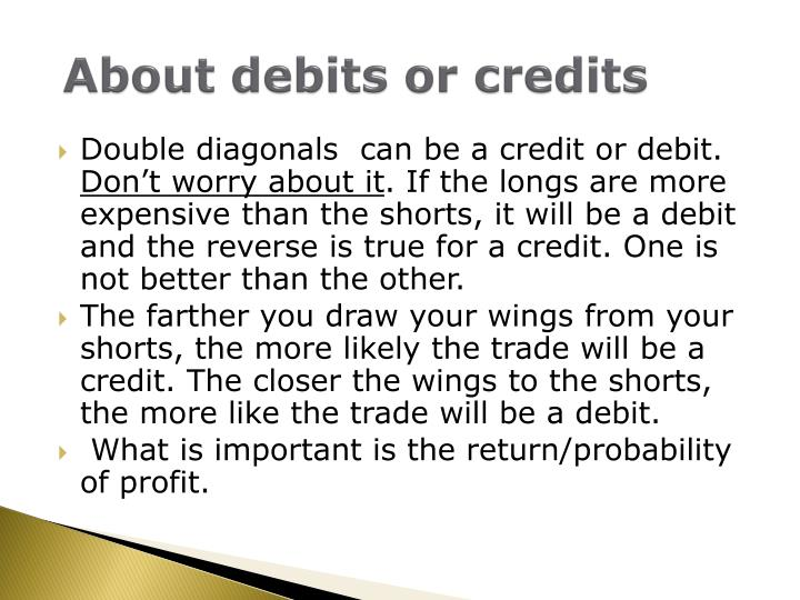 About debits or credits