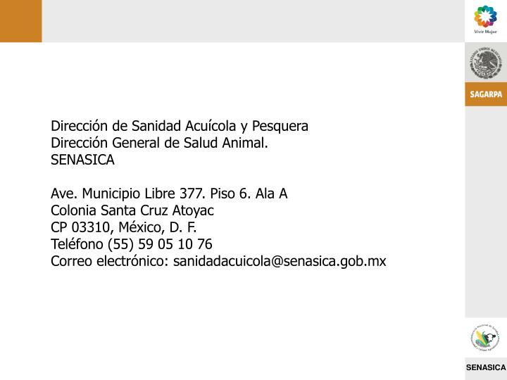 Dirección de Sanidad Acuícola y Pesquera