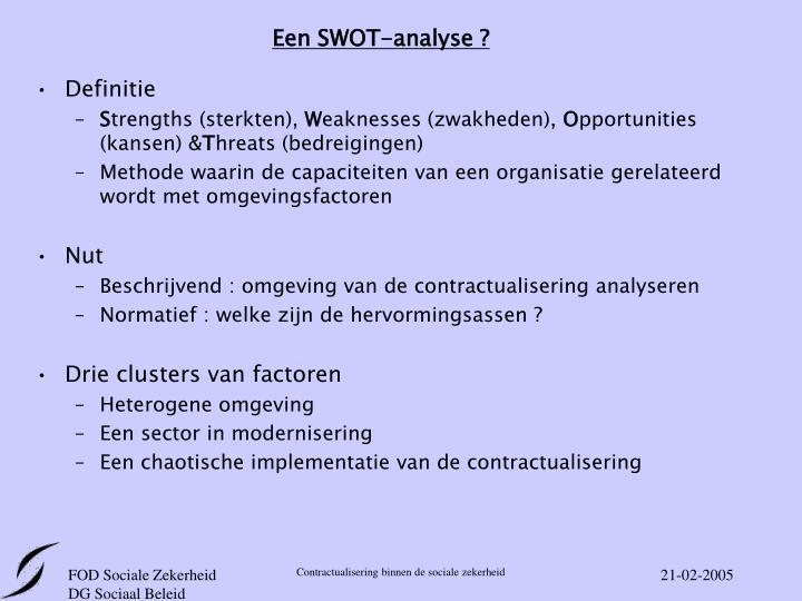 Een SWOT-analyse ?
