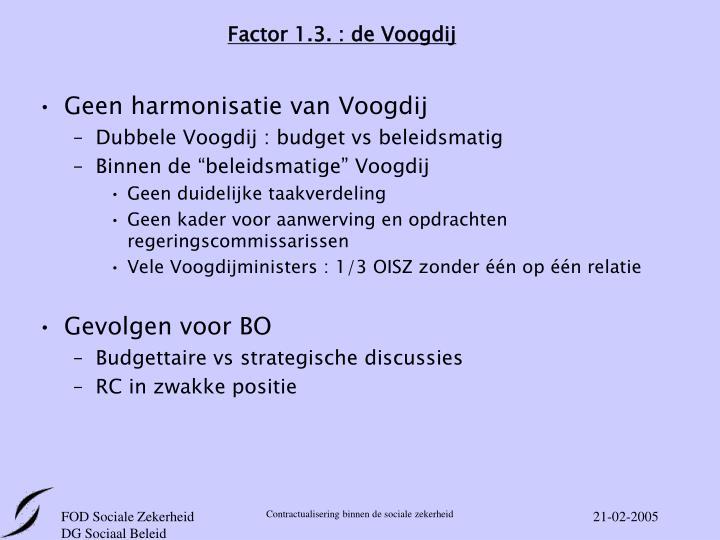 Factor 1.3. : de Voogdij