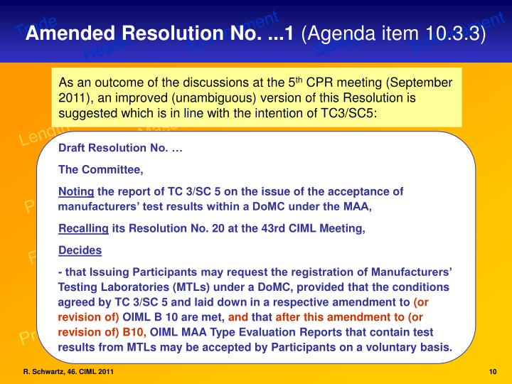 Amended Resolution No. ...1