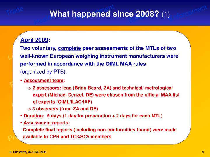 What happened since 2008?