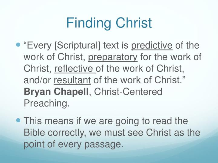 Finding Christ