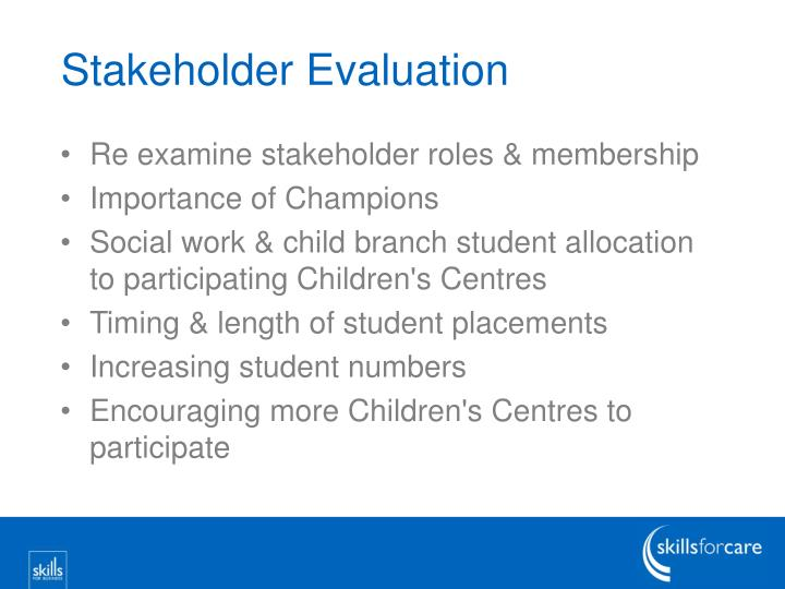 Stakeholder Evaluation