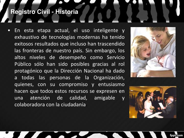 Registro Civil - Historia