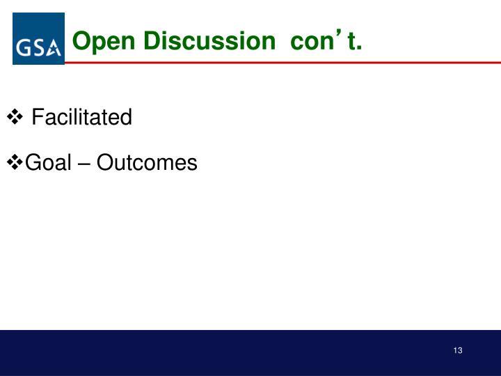 Open Discussion  con