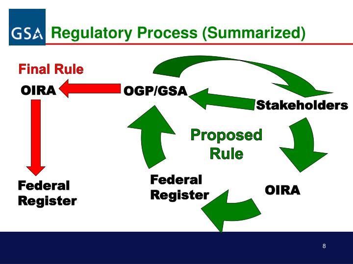 Regulatory Process (Summarized)