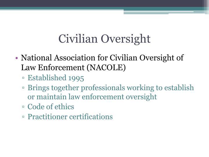 Civilian Oversight