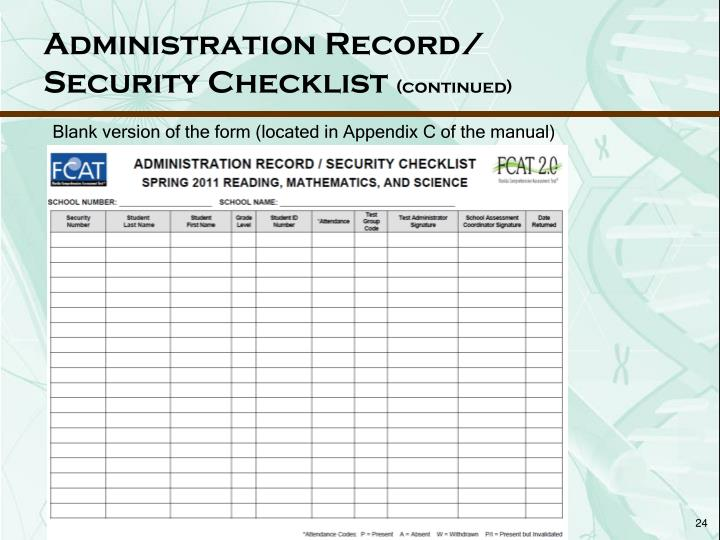 Administration Record/