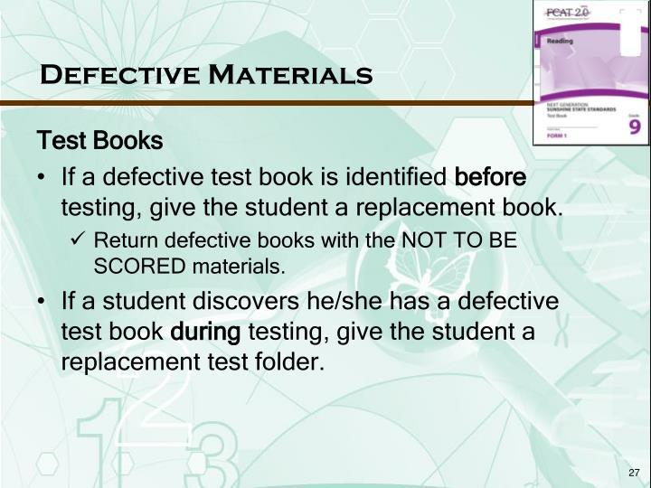 Defective Materials