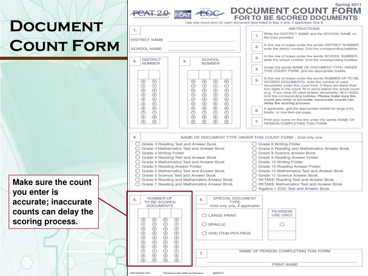 Document Count Form