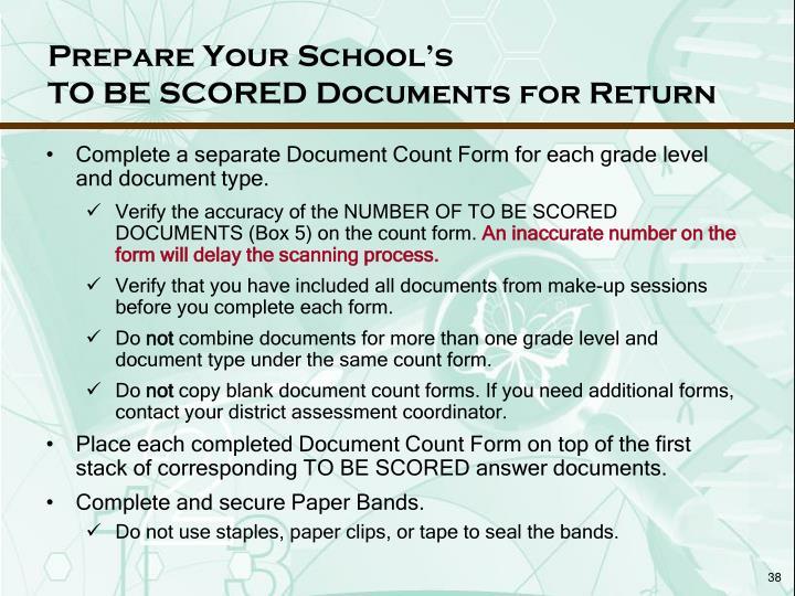 Prepare Your School's