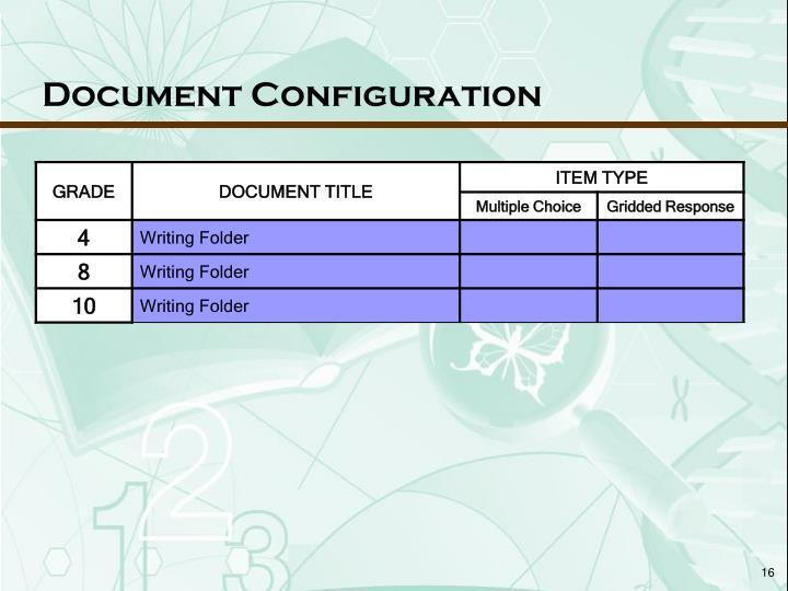 Document Configuration