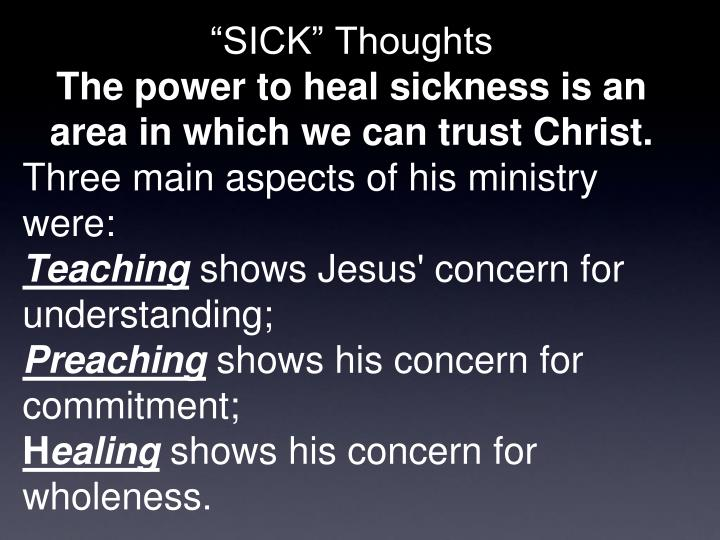 """""""SICK"""" Thoughts"""