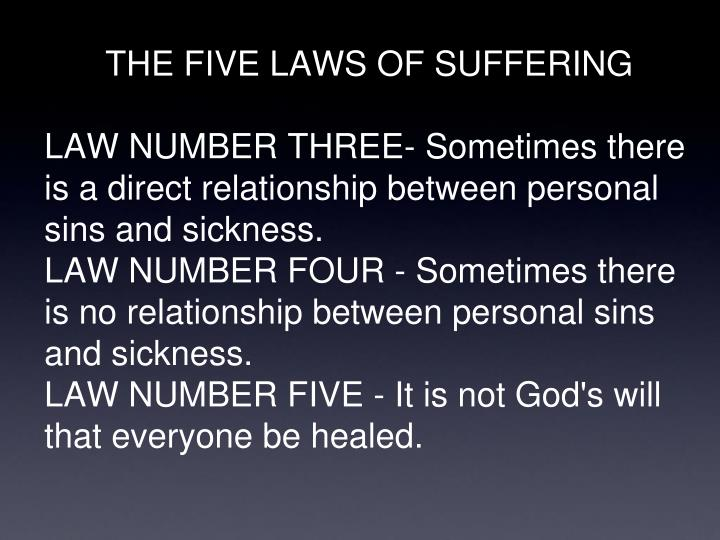 THE FIVE LAWS OF SUFFERING