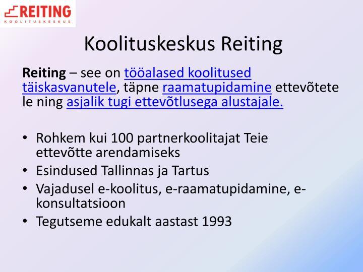 Koolituskeskus Reiting