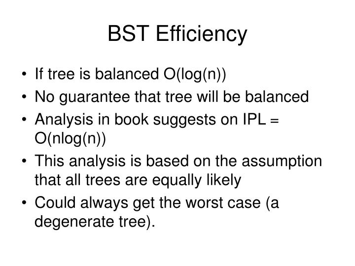 BST Efficiency