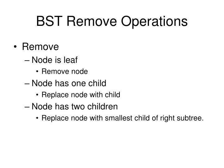 BST Remove Operations