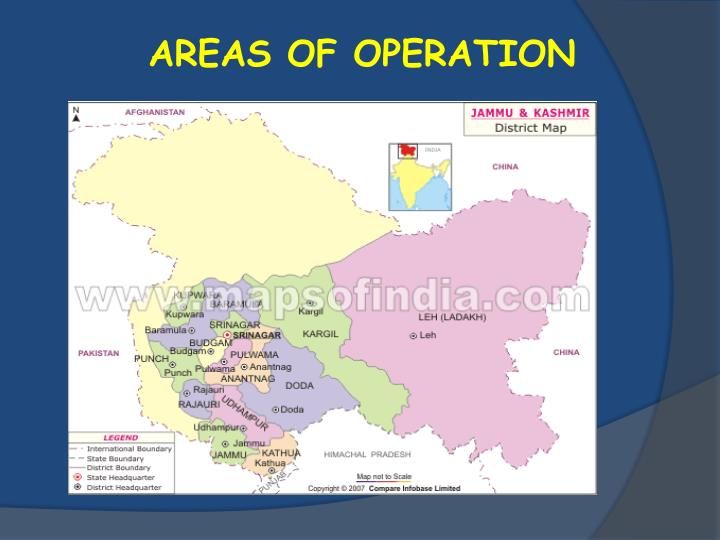 AREAS OF OPERATION