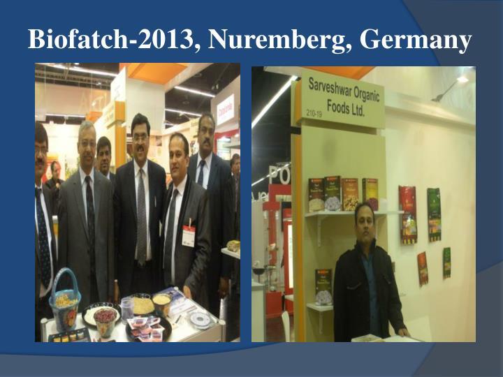 Biofatch-2013, Nuremberg, Germany