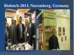 biofatch 2013 nuremberg germany