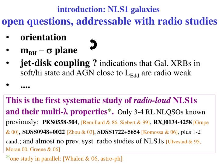 introduction: NLS1 galaxies