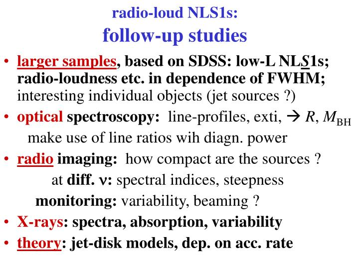 radio-loud NLS1s: