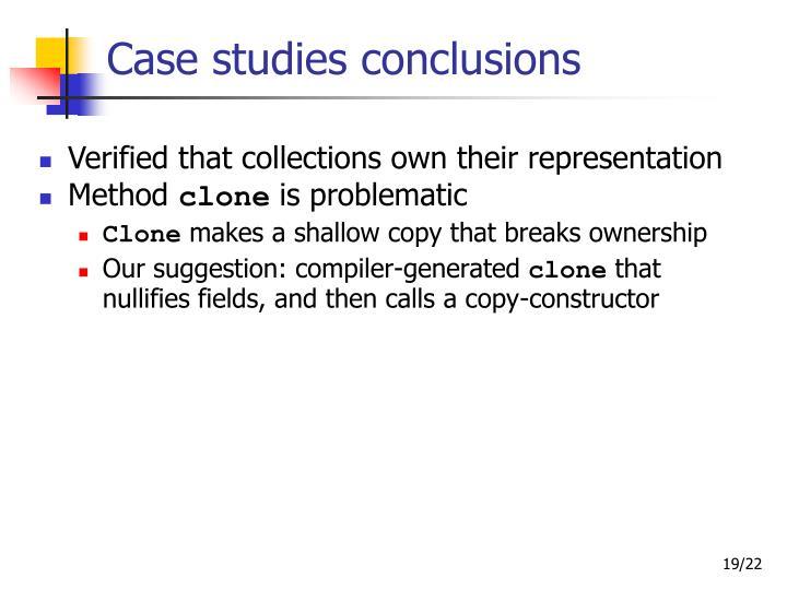 Case studies conclusions