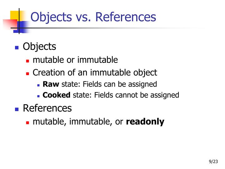Objects vs. References