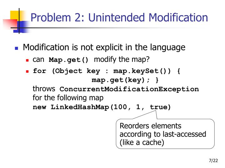 Problem 2: Unintended Modification